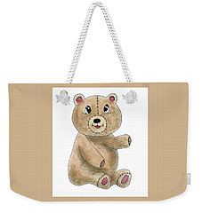 Teddy Bear Watercolor Painting Weekender Tote Bag