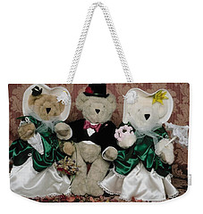 Teddy Bear Wedding Weekender Tote Bag