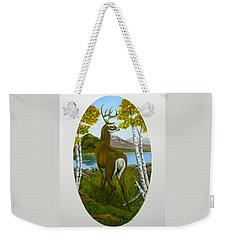 Weekender Tote Bag featuring the painting Teddy's Deer by Sheri Keith