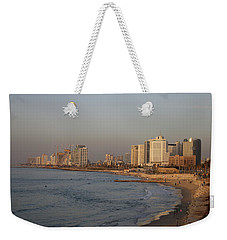 Tel Aviv Coast. Weekender Tote Bag by Shlomo Zangilevitch