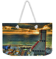 Weekender Tote Bag featuring the photograph Tel Aviv Lego by Ron Shoshani