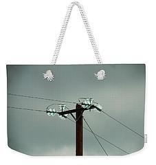 Telegraph Lines Weekender Tote Bag by Charlie and Norma Brock