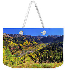 Weekender Tote Bag featuring the photograph Telluride In Autumn - Colorful Colorado - Landscape by Jason Politte