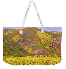Weekender Tote Bag featuring the photograph Temblor Range Color by Marc Crumpler