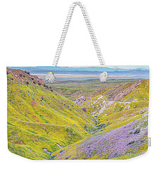 Weekender Tote Bag featuring the photograph Temblor Range View To Caliente Range by Marc Crumpler