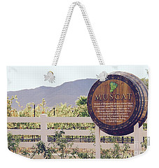 Weekender Tote Bag featuring the photograph Temecula Muscat by Suzanne Oesterling