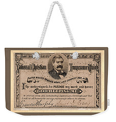 Temperance Pledge Card Weekender Tote Bag