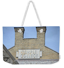 Temple College Weekender Tote Bag by Bill Cannon