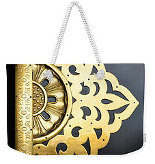 Weekender Tote Bag featuring the photograph Temple Detail by Corinne Rhode