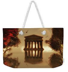 Temple In A Lake Weekender Tote Bag