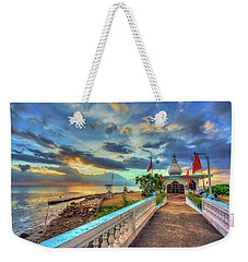 Temple In The Sea Weekender Tote Bag