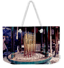 Temple Incense Weekender Tote Bag