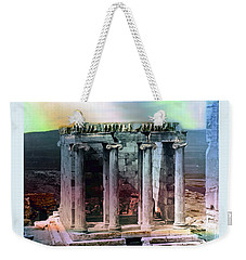 Weekender Tote Bag featuring the photograph Temple Of Athena by Robert G Kernodle