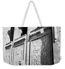Weekender Tote Bag featuring the photograph Temple Of Horus by Silvia Bruno