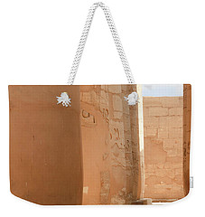 Weekender Tote Bag featuring the photograph Temple Of Karnak by Silvia Bruno