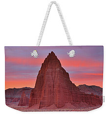 Temple Of The Sun And Moon At Sunrise At Capitol Reef National Park Weekender Tote Bag