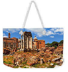 Temple Of Vesta Weekender Tote Bag by Anthony Dezenzio
