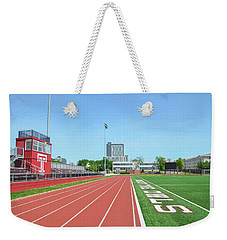 Temple Owls - Dan And Shelley Boyce Track Weekender Tote Bag by Bill Cannon