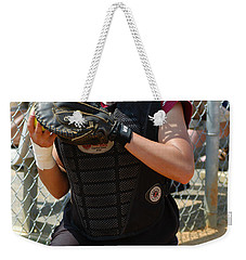 Temple University Bullpen Catcher Weekender Tote Bag by Mike Martin