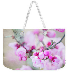 Weekender Tote Bag featuring the photograph Temptation Of Pink by Ivy Ho
