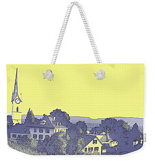 Weekender Tote Bag featuring the digital art Ten After Eight On A Lavender Morning  by Shelli Fitzpatrick