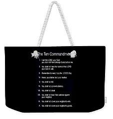 Ten Commandments Weekender Tote Bag