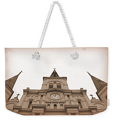 Weekender Tote Bag featuring the photograph Ten O Two - Sepia by Beth Vincent
