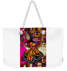 Weekender Tote Bag featuring the mixed media Tenderly by Marvin Blaine