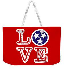 Weekender Tote Bag featuring the digital art Tennessee Flag Love by Heather Applegate