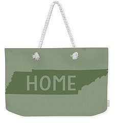 Weekender Tote Bag featuring the digital art Tennessee Home Green by Heather Applegate