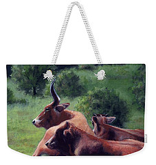 Tennessee Longhorn Steers Weekender Tote Bag by Janet King