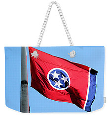 Tennessee State Flag Weekender Tote Bag by Kristin Elmquist