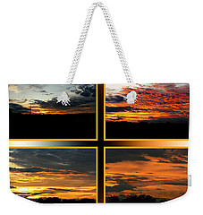Weekender Tote Bag featuring the photograph Tennessee Sunset by EricaMaxine  Price
