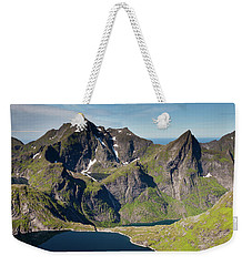 Tennesvatnet And Mountains From Munken Weekender Tote Bag