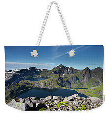 Tennesvatnet And Krokvatnet From Munken Weekender Tote Bag