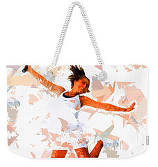 Weekender Tote Bag featuring the painting Tennis 115 by Movie Poster Prints
