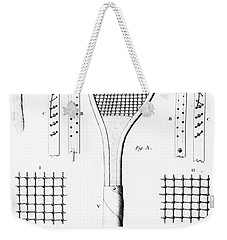 Tennis Racket And Balls Weekender Tote Bag by French School