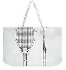 Tennis Racket Patent 1907 Weekender Tote Bag