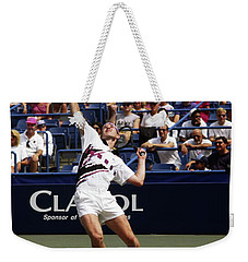 Tennis Serve Weekender Tote Bag