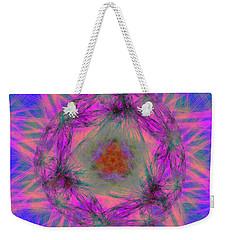 Weekender Tote Bag featuring the digital art Tenographs by Andrew Kotlinski