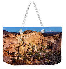Tent Rocks From Above Weekender Tote Bag