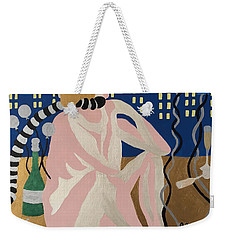 Weekender Tote Bag featuring the painting Tenth New Years Eve by Erika Chamberlin
