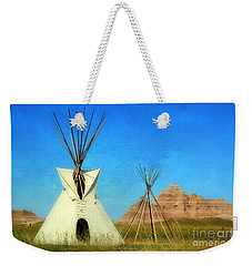 Tepee In Badlands Weekender Tote Bag by Teresa Zieba