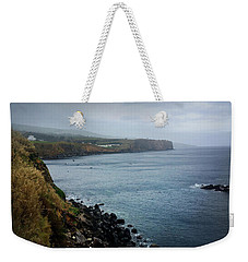 Weekender Tote Bag featuring the photograph Terceira Coastline by Kelly Hazel