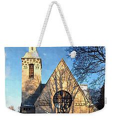 Weekender Tote Bag featuring the digital art Terijoki Church by Kai Saarto