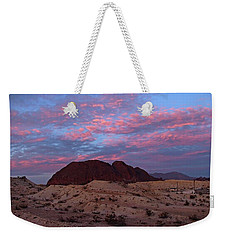 Weekender Tote Bag featuring the painting Terlingua Sunset by Dennis Ciscel