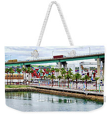 Terminal Island Bridge In San Pedro Weekender Tote Bag