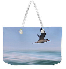 Weekender Tote Bag featuring the photograph Tern Flight Vert by Laura Fasulo