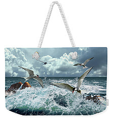 Terns In The Surf Weekender Tote Bag