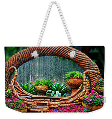 Weekender Tote Bag featuring the photograph Terra Cotta Pot Gondola Art by Joseph Hollingsworth